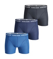 Bjorn Borg Boxers Solid Stretch 3 Pack Skydiver