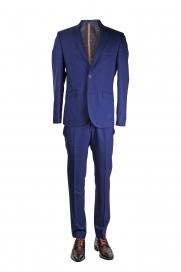 Blauw Geruit Kostuum Janis