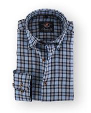 Blauw Leinen Hemd 105-08