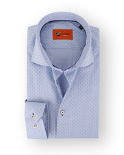 Blauw Print Overhemd 65