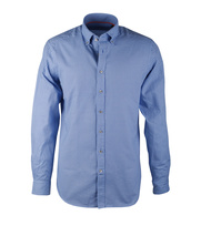 Blauw Print Overhemd Suitable