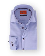 Blauw Ruit Overhemd Slim Fit 52-03
