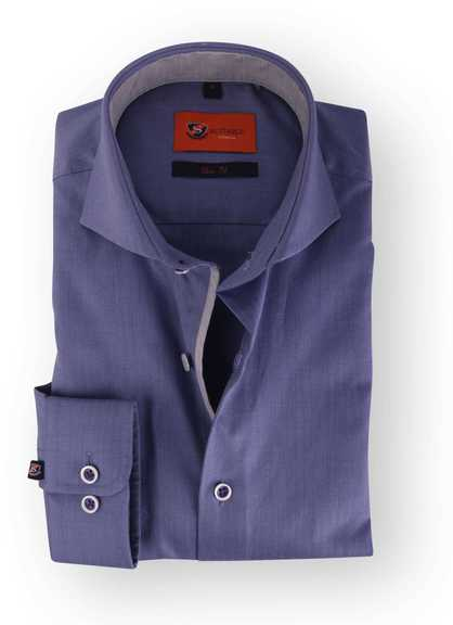 Blau Lila Hemd Slim Fit 112-06