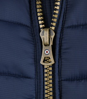 Detail Blue Industry Bomber Jas