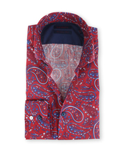Blue Industry Shirt Bordeaux Paisley