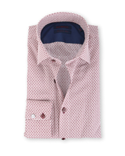 Blue Industry Shirt Bordeaux Print