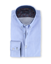 Blue Industry Shirt Button Down Lichtblauwe Ruit