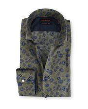 Blue Industry Shirt Cutaway Bloemen