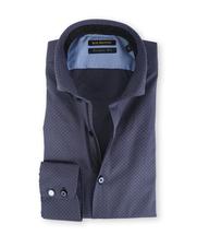 Blue Industry Shirt Cutaway Navy Honingraat