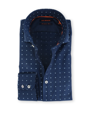Blue Industry Shirt Cutaway Navy Pinpoint