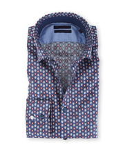 Blue Industry Shirt Donkerblauw Dots