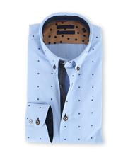 Blue Industry Shirt Lichtblauwe Ruit