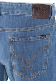 Detail Brax Jeans Cooper Blauw