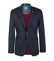 British Indigo Blazer Sporty Notch Grijs