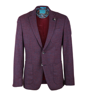 British Indigo Blazer Sporty Notch Rood
