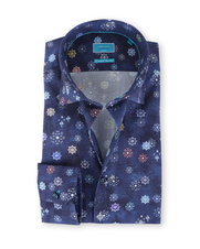 British Indigo Shirt Indigo Indian Star