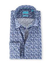 British Indigo Shirt Print Blauw