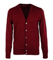 Cardigan Bordeaux + Navy