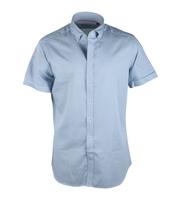 Casual Korte Mouw Overhemd Blauw Print