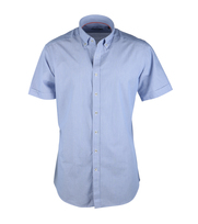 Casual Korte Mouw Overhemd Blauw Streep