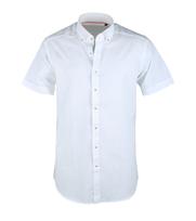 Casual Korte Mouw Overhemd Wit