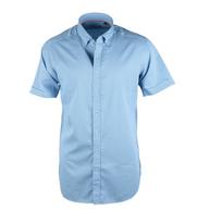 Casual Korte Mouw Shirt Blauw Print