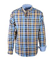 Casual Overhemd Geel Groen Blauw