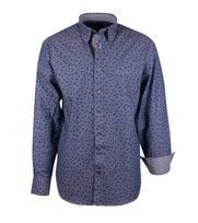 Casual Overhemd Indigo Paisley