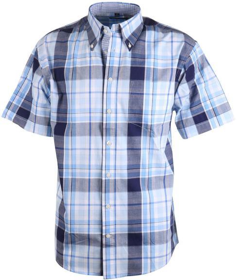 Casual Overhemd Blauwe Ruit