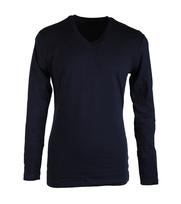 Claesens Longsleeve T-shirt V-hals Donkerblauw