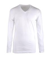 Claesens Longsleeve T-shirt V-hals Wit