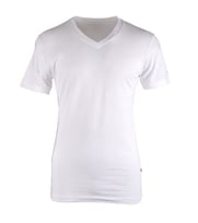 Claesens T-shirt V-hals Wit