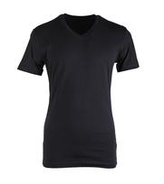 Claesens T-shirt V-hals Zwart