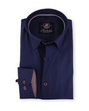 Dark Blue Shirt Dessin 117-4