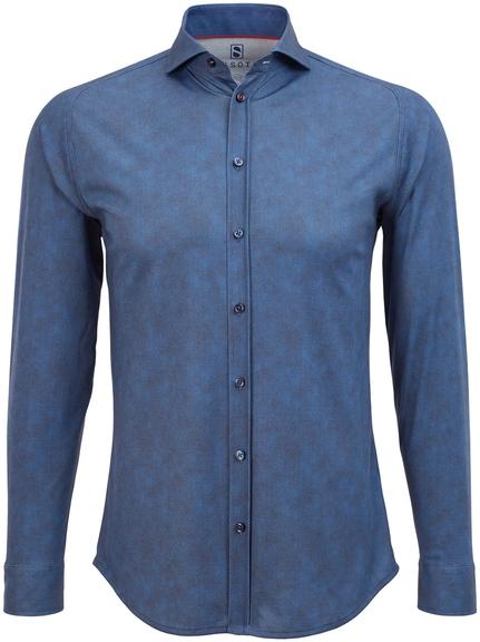 Desoto Overhemd Strijkvrij Donkerblauw Oxford