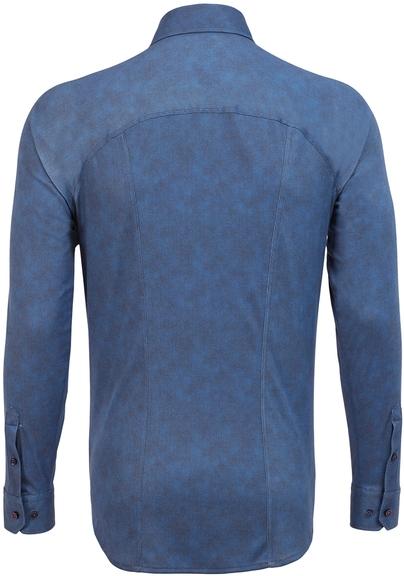 Detail Desoto Overhemd Strijkvrij Donkerblauw Oxford