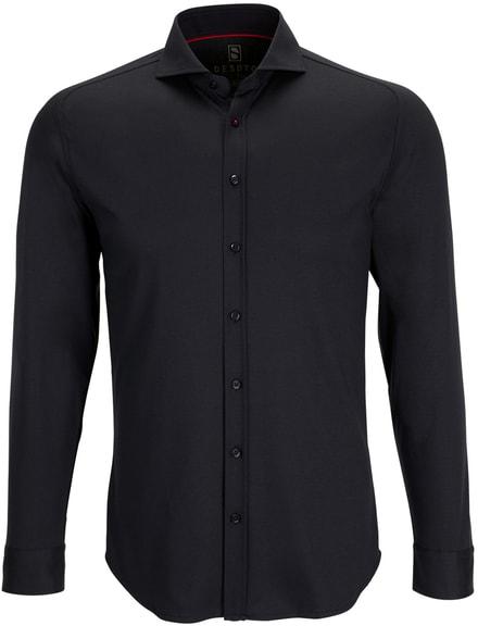 Desoto Overhemd Strijkvrij Zwart