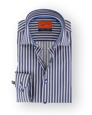 Donkerblauw Gestreept Overhemd 51-10