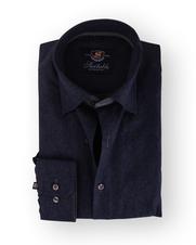Donkerblauw Paisley Overhemd Slim Fit 111-04