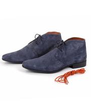 Donkerblauwe Suede Schoenen
