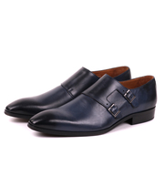 Double Monkstrap Herenschoen Donkerblauw