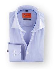 Dress Slim Fit White Navy Stripes
