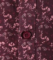 Detail Dstrezzed Bloemetjes Overhemd Bordeaux
