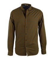 Dstrezzed Overhemd Geel Groen Ruit