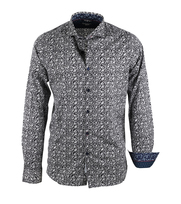 Dstrezzed Overhemd Print Donkerblauw