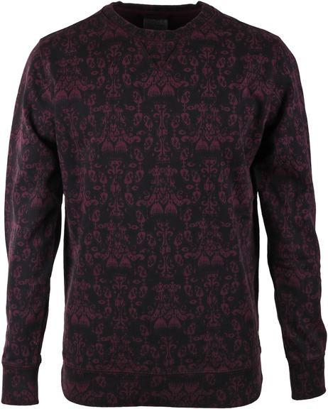 Dstrezzed Sweater Bordeaux Print