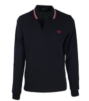 Fred Perry Longsleeve Polo Donkerblauw