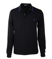 Detail Fred Perry Longsleeve Polo Zwart D73
