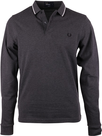 Fred Perry Polo Shirt Longsleeve Dark Grey