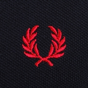 Detail Fred Perry Polo Navy White Red